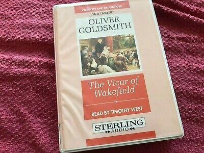 Oliver Goldsmith 6 Tape Audio Book THE VICAR OF WAKEFIELD Read By Timothy West • 9.99£