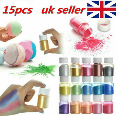 £10.95 • Buy 15 Color Set Mica Pigment Powder Perfect For Soap Cosmetics Resin Colorant Dye