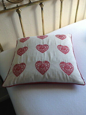 Red Love Heart Cushion Cover & Insert 18  X 18  Catherine Lansfield • 12£