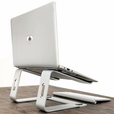 Aluminum Laptop Cooling Stand Holder Desktop Table With Non-Slip Pad Office Home • 25.59£