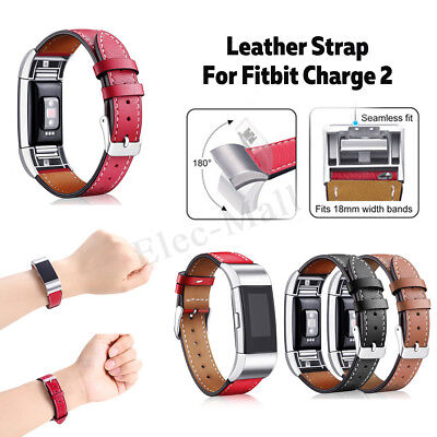 AU17.31 • Buy For Fitbit Charge 2 Replacement Leather Bracelet Wristband Watch Band