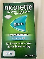 NICORETTE ICY White 2mg GUM 15 Pieces NEW And BOXED Exp 08/22 (ref Beu2) • 0.99£