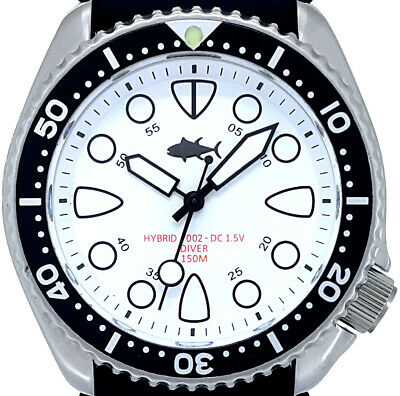 $ CDN112.63 • Buy Vintage Diver Watch Seiko Mens 7002 Quartz PLONGEUR Mod W/WHITE SHARK TOOTH Dial