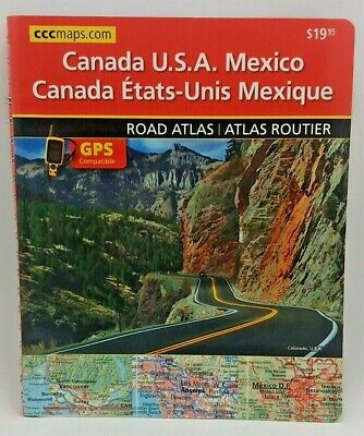 Canada USA Mexico Road Atlas 2014 Spiral Bound By CCCMAPS - GPS Compatible • 8.93£