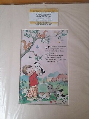 Mabel Lucy Attwell Print Certified 25 Years Old In The 90s.. Our Thanks Dear God • 9.99£