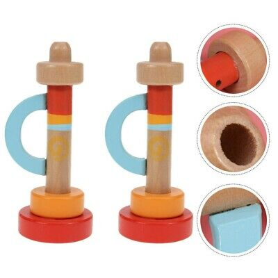 2Pcs Wooden Trumpet Toys Portable Instruments For Students Toddler • 8.25£