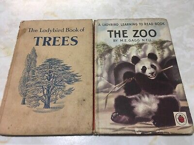 Vintage Ladybird Books, The Zoo And The Ladybird Book Of Trees • 3£