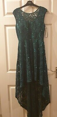 Sequin Lace High Low Party Dress RRP £36 • 4£