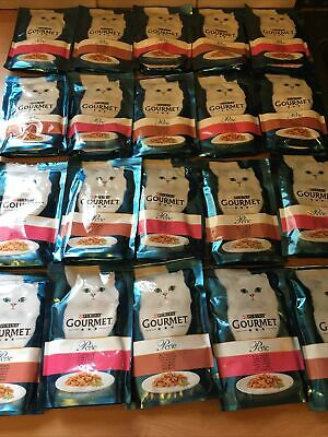 Purina Gourmet Perle Mixed Variety Seaside Duo Cat Food Pouches - 20 X 85g - NEW • 9.99£