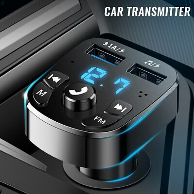 Car Wireless Bluetooth FM Transmitter MP3 Player 2 USB Car Fast Charger Adapter  • 5.99£