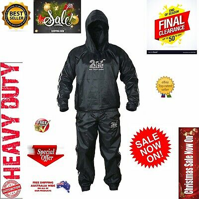 AU32.13 • Buy Best Sauna Sweat Suit For WEIGHT LOSS Men Women MMA FIGHT BOXING Gym TRACK SUIT