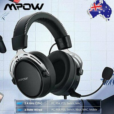 AU67.19 • Buy Mpow Air 2.4GHz Wireless Gaming Headset Noise Cancelling Mic Over-Ear Headphones