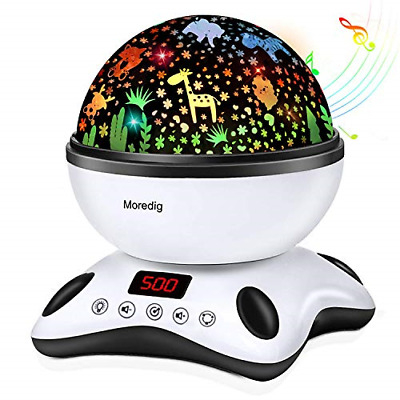 Moredig Baby Light Projector, Remote Control And Timer Design Rotating Night 12 • 33.84£