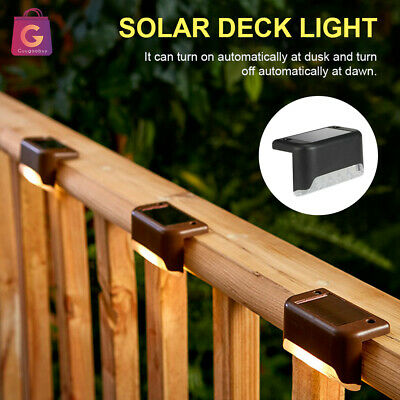 4/8/12 LED Solar Powered Fence Wall Lights Garden Lamp Step Path Decking Outdoor • 6.99£