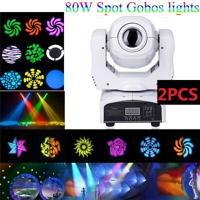 2pcs 80W LED Beam Moving Head Stage Light Gobo RGBW DMX Disco DJ Party Lighting • 229.99£