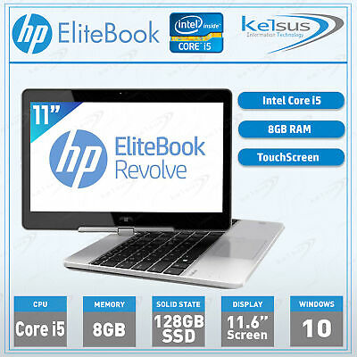 HP EliteBook 810 G1 Laptop Core I5 8GB RAM 128GB SSD Windows 10 Wi-Fi Webcam • 179.99£