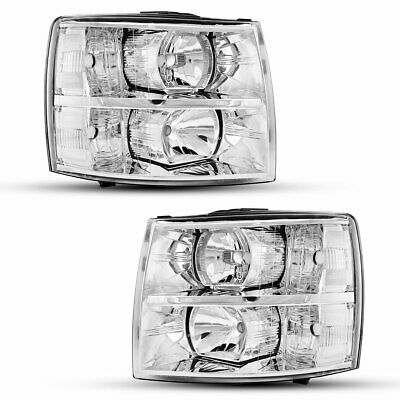 $128.21 • Buy Headlights Assembly For 2007-2014 Chevy Silverado 1500 2500 HD 3500 HD Headlamps