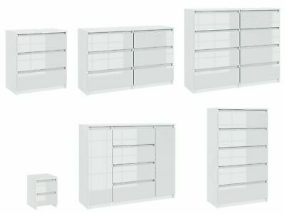 £139.90 • Buy Chest Of  Drawers Sideboard TV Unit Cabinet Storage Bedroom White Gloss Fronts