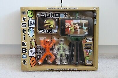 Stikbot Studio Pets - Kids Stickbots Stop Motion Animation App Movie Making Toy • 4£