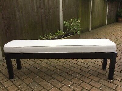 Ikea Long Black Bench Seat And Seat Pad • 5.10£