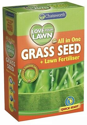 £4.95 • Buy All In One Love Your Lawn Garden Grass Seed And Fertiliser Quick Growth Grass !