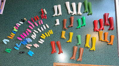 $ CDN10.11 • Buy Large Lot Of Vintage Clone Barbie Doll Shoes Boots Nice!!⭐️
