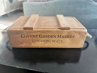 Wooden Storage Box With Lid 31cm Long 18cm Wide • 6£