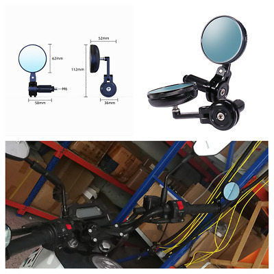 $37.70 • Buy Motorcycle CNC Aluminum 7/8in Handle Bar End Side Rearview Mirrors Anti-Glare