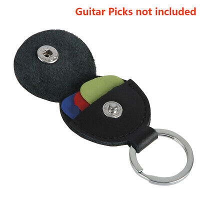 $ CDN5.42 • Buy Guitar Picks Holder Case Leather Keychain Plectrum Key Fob Cases Bag Acces
