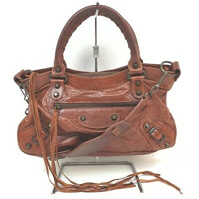 AU48.72 • Buy Balenciaga Hand Bag The First Browns Leather 1906268
