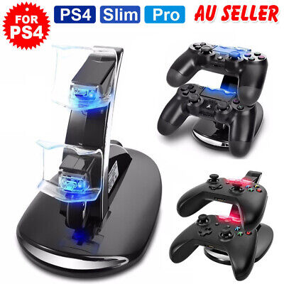 AU18.65 • Buy For Playstation 4 PS4 Controller Charger Dock Stand Charging Station Dualshock