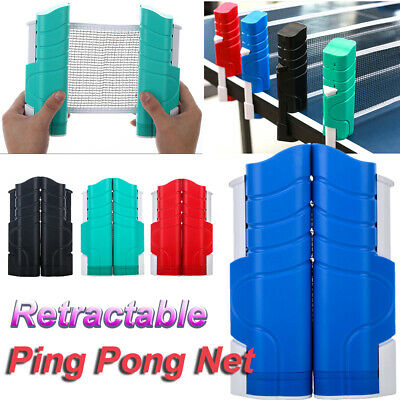 AU22.66 • Buy Table Tennis Kit Ping Pong Set Retractable Net Rack Portable Ping Pong Sports HG