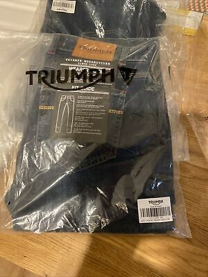 Ladies Triumph Motorcycle Clothing Casual Denim Jean 26r • 10£
