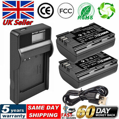 2X LP-E6 Battery +LCD Charger For Canon XC10 EOS 70D 7D 6D 5D 80D Mark III 5D FB • 18.59£