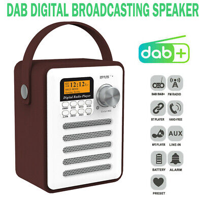 £32.99 • Buy Portable DAB + Digital Stereo Bluetooth FM Radio Audio MP3 Player Rechargeable