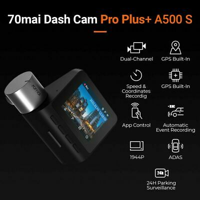 AU123.50 • Buy 70mai A500 Smart Dash Cam Pro Plus Built-in GPS 1944P Global Version Au Stock