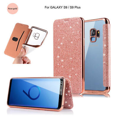 $ CDN24.04 • Buy For Samsung Galaxy Note 9 S9 New Glitter Slim Leather TPU Wallet Flip Case Cover