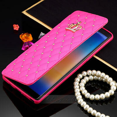 $ CDN25.30 • Buy Cute Crown Bling Diamond Wallet Card Leather Case For Samsung Note 8 S8 Plus S8