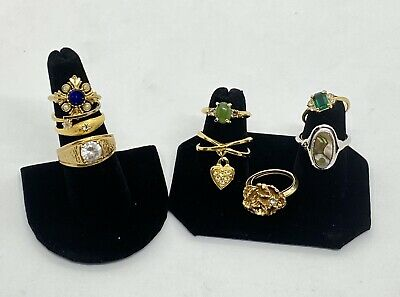 $ CDN27.28 • Buy Vintage Costume Jewelry Rings, Lot Of 9 AVON Rings, Various Sizes