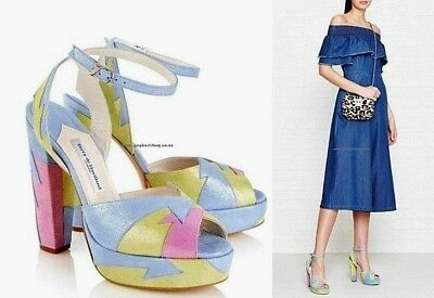 TERRY DE HAVILLAND Zia Allsorts Platform Sandals Hand Made In Span Sz 36  $530 • 144.71£