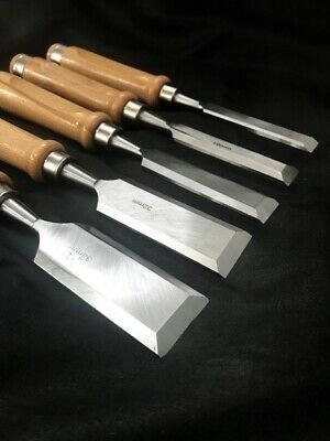 Japanese Traditional Carpenter Tool Chisel  NOMI  5-piece Set Used • 110.91£