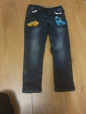 A Pair Of Dinosaur Jeans From Bluezoo For 5-6 Years Boys • 4.20£