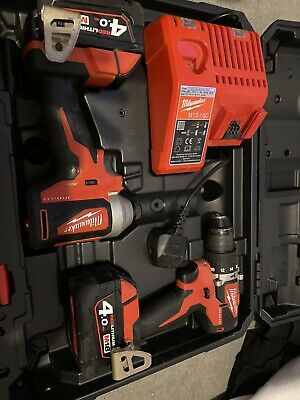 Milwaukee M18 Cblpp2a-402c Brushless Set  2x4.0 Battery With Fast Charger • 205£