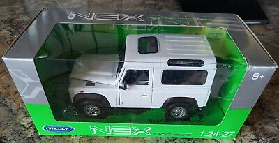 1/24 - 1/27 Welly NEX Land Rover Defender White - Boxed • 3.19£