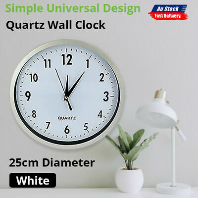 AU15.19 • Buy Wall Clock Round Quartz Wall Clock Silent Non-Ticking Battery Operated AnalogNEW