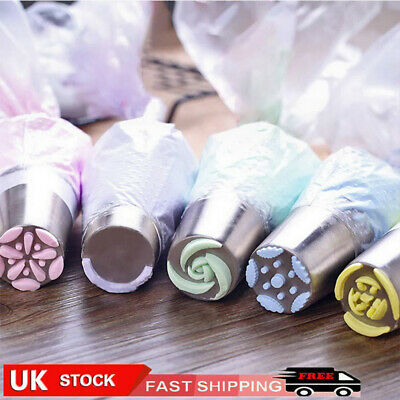 7-27PC/Set Russian Leaf Flower Icing Piping Nozzle Tip Cake Topper Baking Tool A • 5.99£