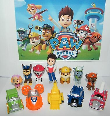 £5.99 • Buy 12pc/Set Paw Patrol Cake Toppers Action Figures Puppy Patrol Dog Kids Toy Gift