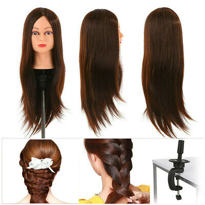 Salon Hair Styling Hairdressing Practice Doll Head Training Mannequin + Clamp • 13.99£
