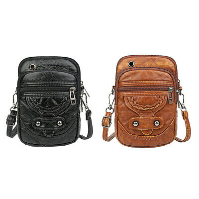 PU Leather Women Shoulder Messenger Bags Casual Solid Travel Phone Pouch 7E • 9.29£
