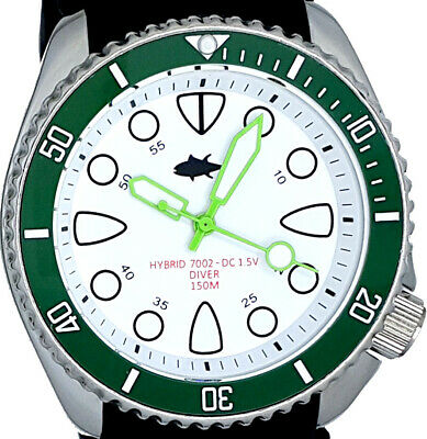 $ CDN26.14 • Buy Vintage Diver Watch Seiko Mens 7002 Quartz PLONGEUR Mod W/WHITE SHARK TOOTH Dial
